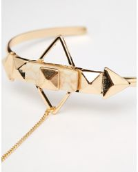 ASOS | Metallic Pastel Stone And Stud Hand Harness | Lyst