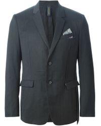 Miharayasuhiro - Gray Cut-out Pocket Blazer for Men - Lyst