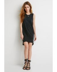 Forever 21 - Black Mineral Wash Dress - Lyst