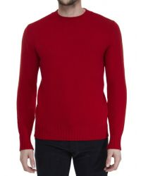 Jules B - Red Lambswool Crew Neck Sweater for Men - Lyst