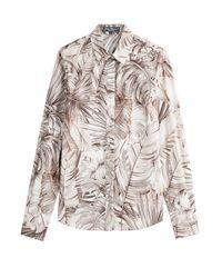 Ferragamo | Brown Printed Cotton Shirt - Florals | Lyst