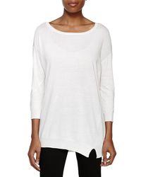 Halston - White Dolman Sleeve Sweater - Lyst