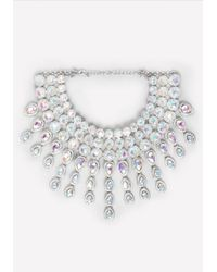 Bebe | Metallic Crystal Choker Necklace | Lyst