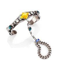 DANNIJO | Multicolor Dorie Crystal Finger Bracelet | Lyst