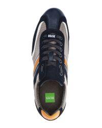 BOSS Green | Black Suede Sneakers 'eldorado Suede' for Men | Lyst
