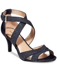 Style & Co. | Blue Style&co. Pravati Strappy Evening Sandals | Lyst
