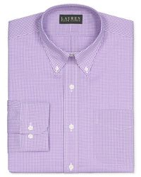 Lauren by Ralph Lauren - Non-Iron Medium Purple Gingham Dress Shirt for Men - Lyst