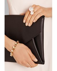 Kenneth Jay Lane - Metallic Gold-Plated Faux Pearl Ring - Lyst