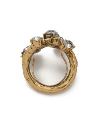 Oscar de la Renta | Crystal Branch Ring - Black Diamond | Lyst