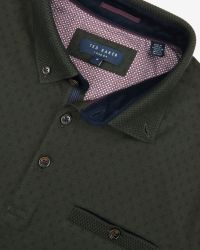 Ted Baker | Green Mendosa Knitted Collar Polo Shirt for Men | Lyst