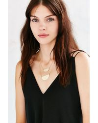 Urban Outfitters | Metallic Raquel Double Layer Necklace | Lyst