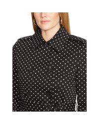 Ralph Lauren | Black Polka-dot Belted Trench Coat | Lyst