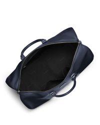 Michael Kors | Blue Warren Leather Travel Duffel Bag for Men | Lyst