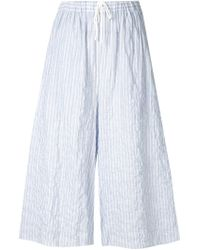 Baja East - Blue Striped Culottes - Lyst