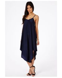 Missguided - Blue Rana Trapeze Jumpsuit - Lyst