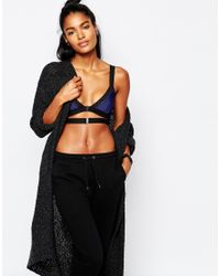 Blue Life | Black Preforated Contrast Bralette - Ultramarine | Lyst