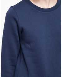 A.P.C. | Blue Ribbed Detail Sweatshirt | Lyst