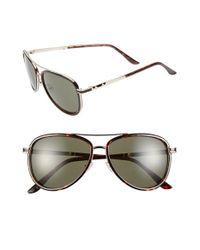 BCBGMAXAZRIA | Brown 54mm Aviator Sunglasses | Lyst