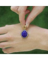 Sylva & Cie - Blue Intaglio Scarab Pendant - Lyst