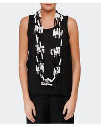 Jianhui | White Textile Multi Strand Necklace | Lyst