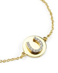 Juicy Couture | Metallic Pave Horseshoe Wish Bracelet | Lyst