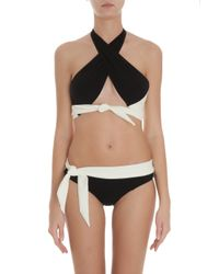 Lisa Marie Fernandez - Black Jessica Crepe Bikini - Lyst