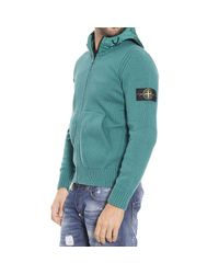 Stone Island | Green Sweater Lambswool Crewneck for Men | Lyst