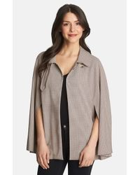 1.STATE - Gray Collared Woven Cape - Lyst
