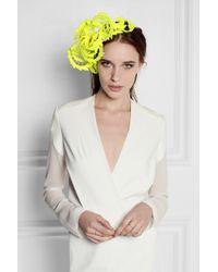 Philip Treacy - Yellow Neon Guipure Lace Headpiece - Lyst