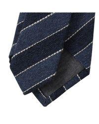 Brunello Cucinelli - Blue Diagonal Stripes Tie for Men - Lyst