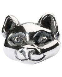Trollbeads | Metallic Trollbead Sterling Silver Wilful Cat Charm | Lyst