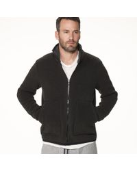 James Perse | Gray Yosemite Polar Fleece Zip Up Jacket for Men | Lyst