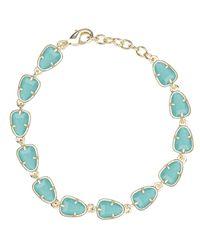 Kendra Scott | Blue Susanna Link Bracelet, Turquoise | Lyst