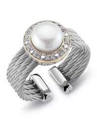 Charriol | Metallic Diamondset Pearl Cable Ring Size 65 | Lyst