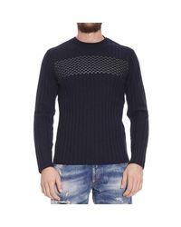 Emporio Armani | Blue Sweater for Men | Lyst