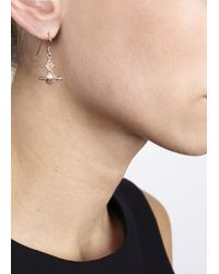 Vivienne Westwood | Pink Isolade Rose Gold Tone Drop Earrings | Lyst