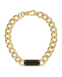Marc By Marc Jacobs - Black Id Plaque Chain Necklace - Lyst
