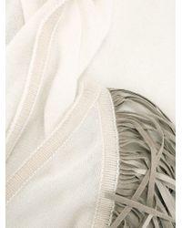 Antonia Zander | White Fringed Shawl | Lyst