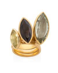 Ilene Steele Jewellery - Metallic Medium Marina Ring Smoky Quartz - Lyst