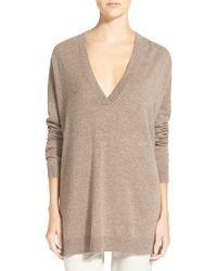 VINCE | Brown V-neck Sweater | Lyst