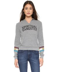 Spiritual Gangster | Gray Varsity Hoodie - Heather Grey | Lyst