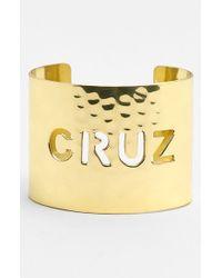 Rustic Cuff | Metallic Wide Personalized Cuff | Lyst