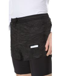 "Satisfy - Black Long Distance 8"" Shorts for Men - Lyst"
