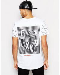 Jack & Jones - White Skater T-shirt With Back Print for Men - Lyst