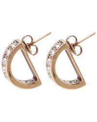 Lulu Frost - Metallic Small Gold-plated Veratrum Half-moon Earrings - Lyst