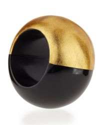 Viktoria Hayman | Metallic Gold Foil Stretch Bangle Bracelet | Lyst