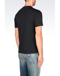 Emporio Armani - Black Jersey T-shirt for Men - Lyst