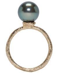 Pearls Before Swine | Metallic Yellow Gold Tahitian Pearl Ring | Lyst
