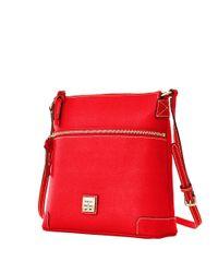 Dooney & Bourke   Red Saffiano Leather Crossbody   Lyst