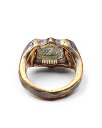 Lulu Frost - Metallic George Frost Bullet Shield Ring Brass for Men - Lyst